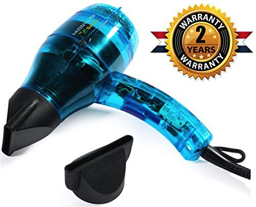 Professional Ionic Hair Dryer Handcrafted in France for Europe's Finest Salons, Dual Ion Generator Function Builds Shine & Volume 1600w 75mph Airspeed, Featherweight