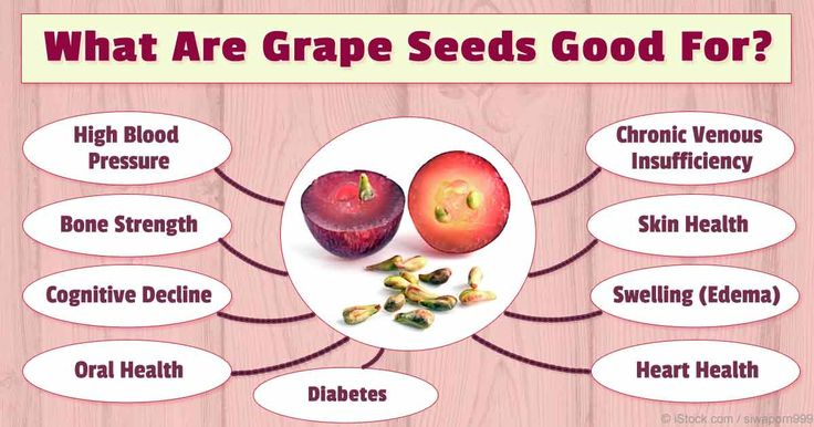 Grape seeds and grape seed extract are rich in powerful antioxidants and natural plant compounds called oligomeric proanthocyanidin complexes (OPCs). http://articles.mercola.com/sites/articles/archive/2016/01/11/grape-seed-benefits.aspx