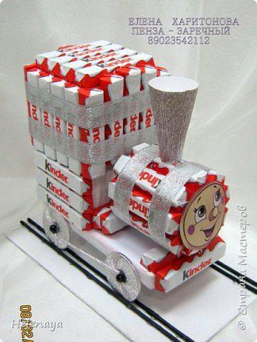 Свит-дизайн День рождения Киндер-паровозик из Ромашково    фото 2
