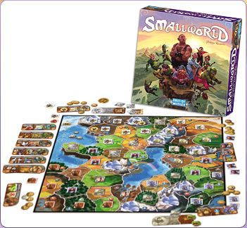 Small World Board Game, the fun, zany, light-hearted civilization board game! In Small World, players vie for conquest and control of a world that is simply too small to accommodate them all. Designed by Philippe Keyaerts as a fantasy follow-up to his award-winning Vinci, Small World is inhabited by a zany cast of characters such as dwarves, wizards, amazons, giants, orcs and even humans; who use their troops to occupy territory and conquer adjacent lands in order to push the other races…