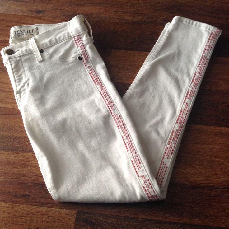 Textile Elizabeth and James White Dean Skinny Jeans Women's Sz 27 $239 #elizabethandjames #SlimSkinny