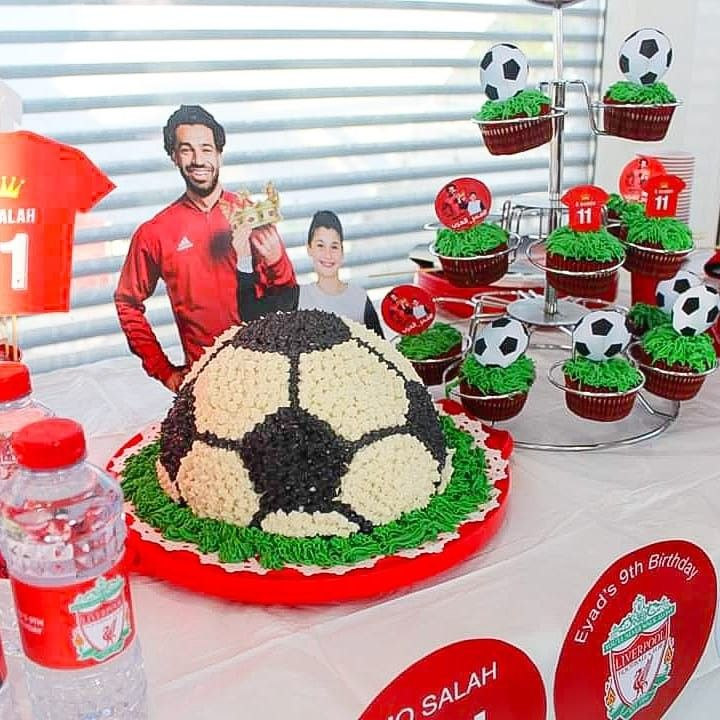 Mohamed Salah Fans Soccer Theme Party Ideas Soccer Theme Parties Boy Birthday Party Themes Birthday Themes For Boys