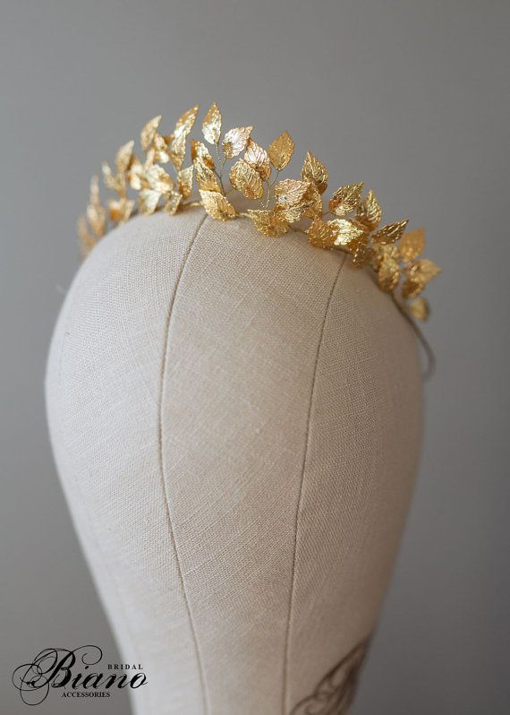 Amazing Greek Goddess Leaf Crown, Wedding Leaf Headband, Woodland, Branc …