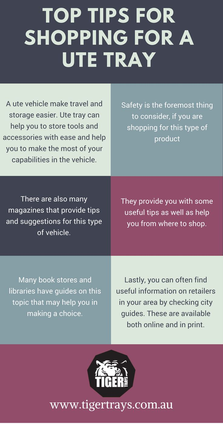 A ute tray offers you travel and storage solutions to store your tools and accessories. However, the selection of appropriate ute-tray for your vehicle is important. The following infographic provides handy tips for selecting a ute tray.