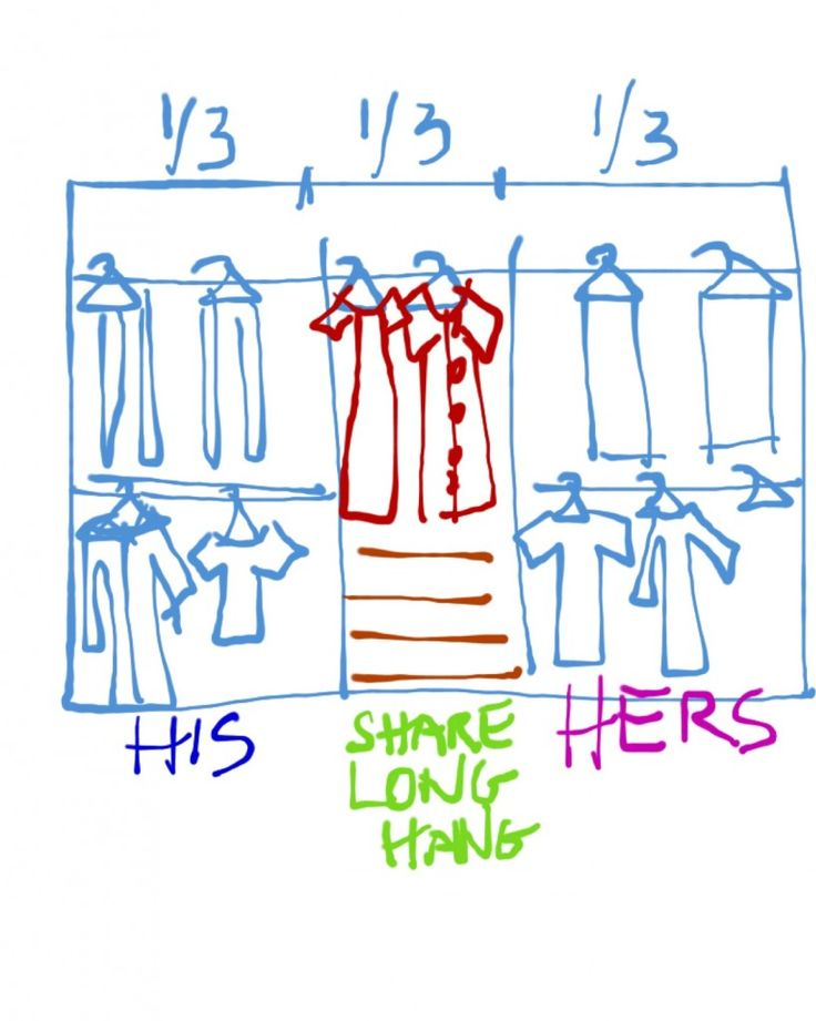 How Do I Organize A Reach In Closet For A Maried Couple? I Get MB