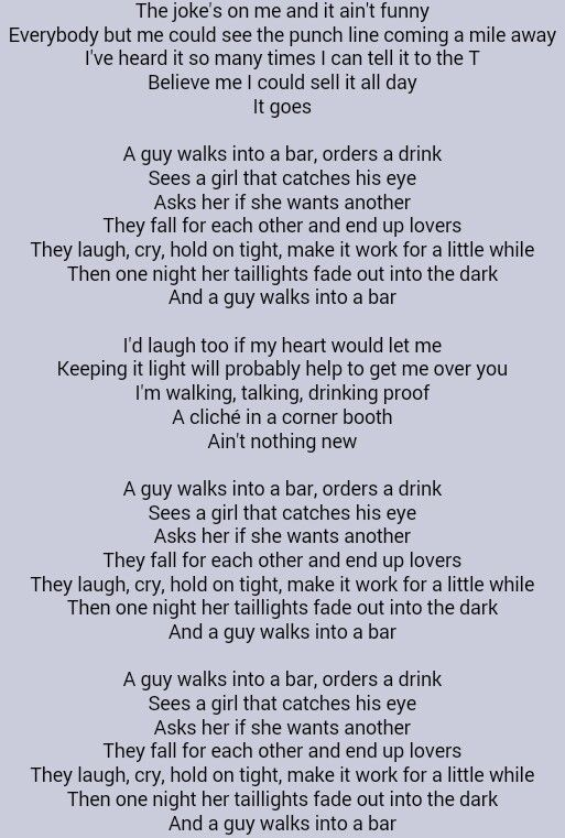 Tyler Farr . A Guy Walks Into A Bar . I Never thought you would fade away from me babe!