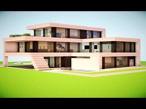 17 meilleures id es propos de minecraft modern house for Minecraft modern house 9minecraft
