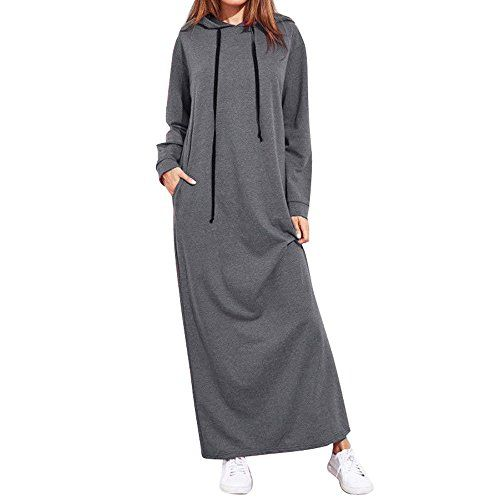 KleiderFrashing Damen Pullover Lang Hoodie Sweatshirt Kleid
