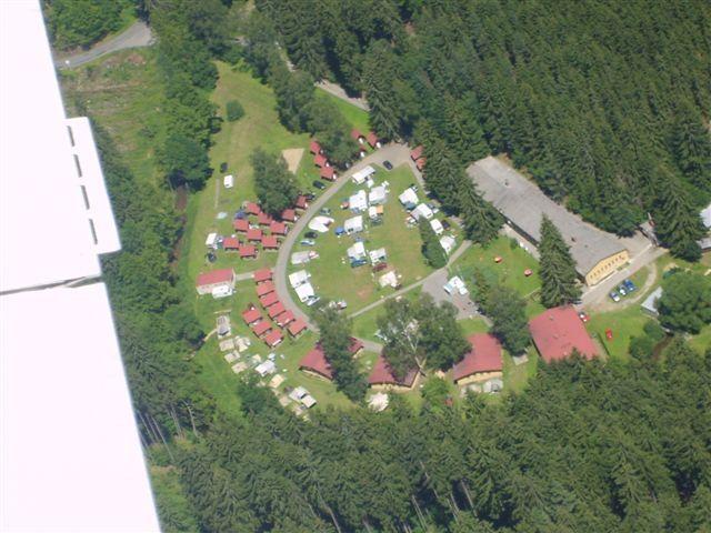 Letecký pohled na kemp