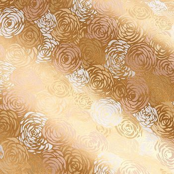 This beautiful Indian paper features a delicate gold foil design of soft roses, with traditional fine paper construction. The continuous design is printed on a sturdy fine paper that is carefully hand