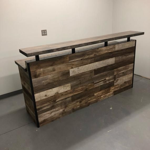 Scheune Holz Rezeption Front Counter Modernen Etsy In 2020 Wood Reception Desk Floating Shelves Floating Shelf Decor