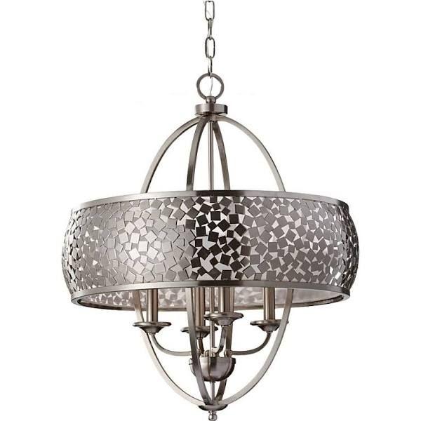foyer chandelier nickel large
