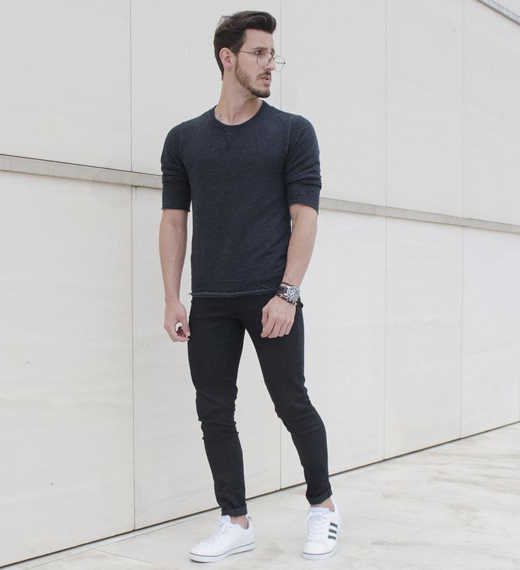 Outfit Men, Fashion Men, Men Style, Adidas Neo, all black, skinny pants - www.rodrigoperek.com