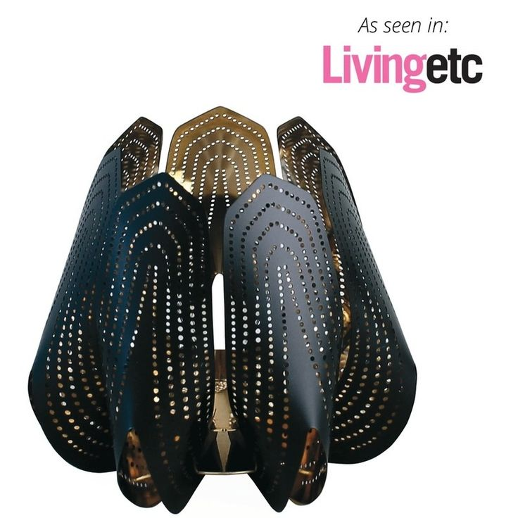 Blossom Black tea light Petal power as seen in living etc. Cool minimal design with delicacy.