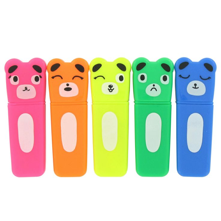 bear highlighters - pack of 5 from Paperchase