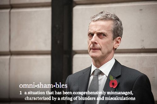 """Malcolm Tucker's """"omnishambles"""" went on to become a verified word in the Oxford English Dictionary."""