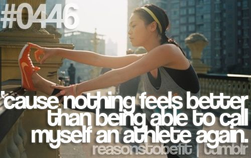 nike plus running apps Nothing feels better than being able to call myself an athlete again juliomedina fitness workout motivation p90x shakeology reasonstobefit