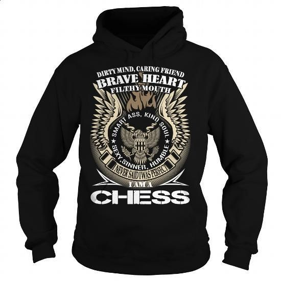 CHESS Last Name, Surname TShirt v1 - #purple hoodie #novelty t shirts. ORDER NOW => https://www.sunfrog.com/Names/CHESS-Last-Name-Surname-TShirt-v1-Black-Hoodie.html?60505