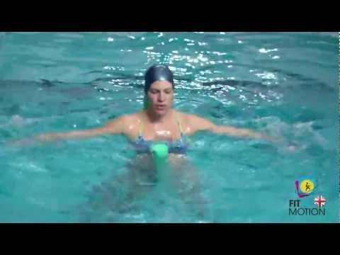 Aquatic Pregnancy Exercises for chest back, shoulders and arms - using noodle