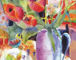watercolour tulips - Buscar con Google