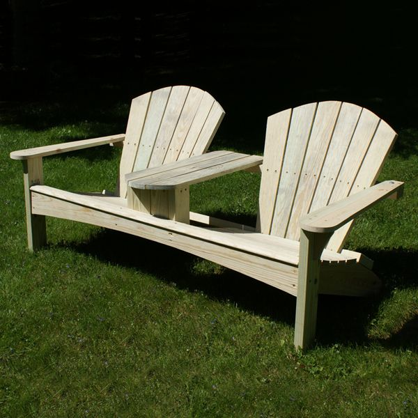 Build a YellaWood Double Adirondack Chair - Free Project Plan: http://www.yellawood.com/projects/project-plans/double-adirondack-chair.aspx #diy #adirondack #chair