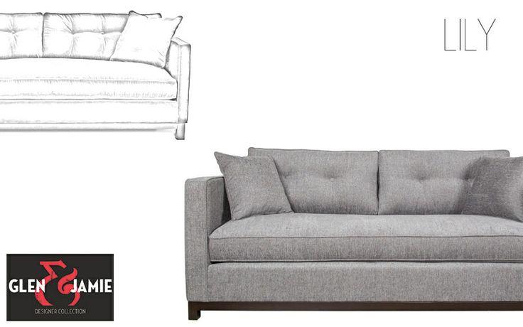 Lily sofa from Glen and Jamie's designer collection #GlenandJamie #furniture #design #sofa