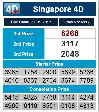 SGP RESULT 27 MEI 2017 : 6268 SAH!