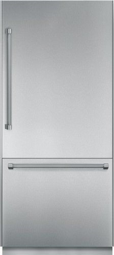 """#refrigerators #Thermador T36BB820SS 36"""" Built-in Fully Flush Bottom Freezer Refrigerator with 19.7 cu. ft. Capacity, Full Extension Drawers, Cantilever Racks, I..."""