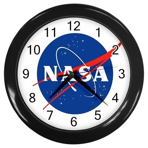 Nasa Logo Wall Clock Space Themed Room Outer Space Bedroom