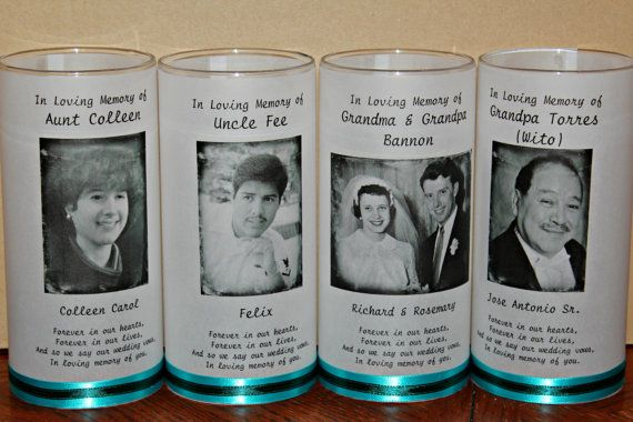 Memorial  Candle, Funeral Candle, Wedding Candle, Celebration Candle, Tribute Candle