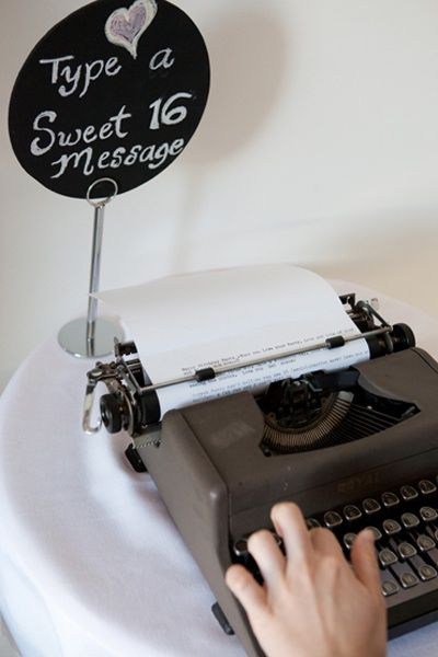 Would do this....but no one is allowed to touch my typewriter