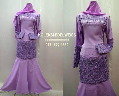 KOLEKSI EDELWEISS Koleksi Baju Pengantin,Tunang,Jubah Muslimah Eksklusif Moden Terkini