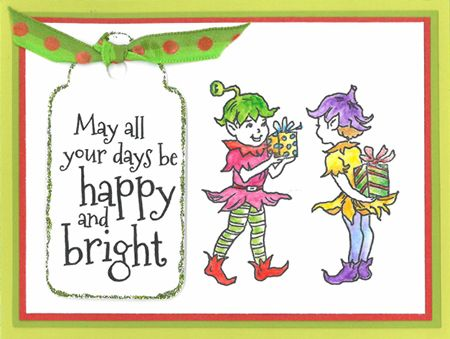 Stamp-it Australia: 4983E Gift Elves, 4998D Days be Happy - Card by Susan