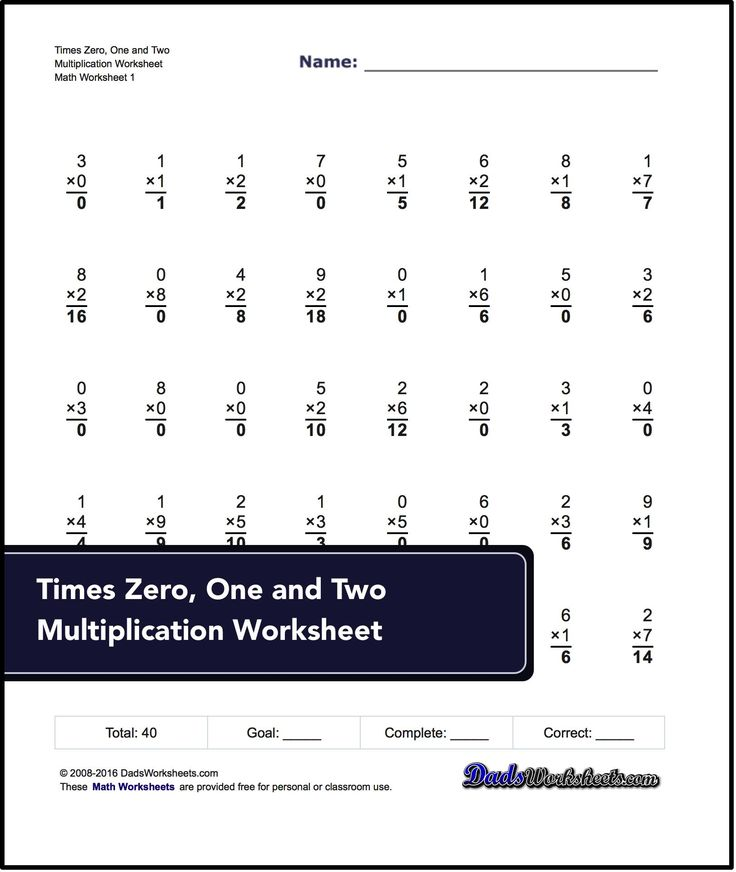 Conventional times table math worksheets. These