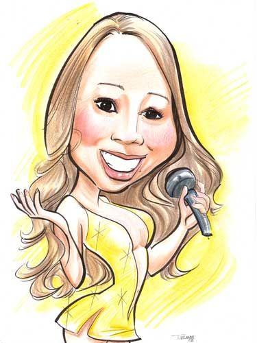 Resultado de imagem para cartoon Mariah Carey