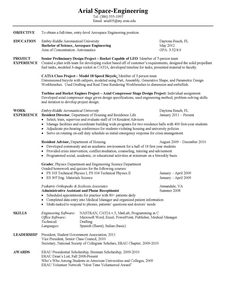 The 25+ best Aerospace engineering jobs ideas on Pinterest What - software programmer sample resume