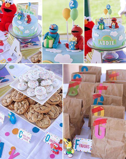 Elmo. Birthday Party. Favors. Decor.    http://www.chiccheapnursery.com/2012/kiddie-parties/sesame-street-birthday-party/