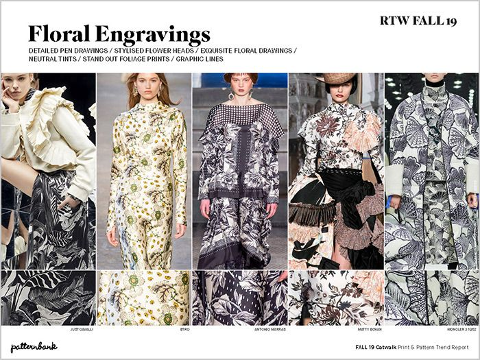 Fall 19 Catwalk Print Pattern Trend Report Fashion Fashion Trends Catwalk