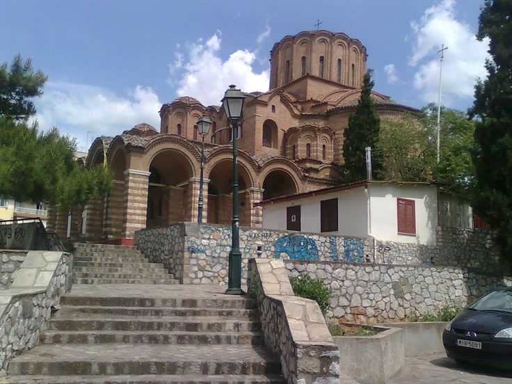 The church of Profitis Ilias. An old byzantine church.