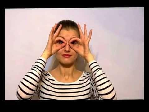 #Упражнение для запавших глаз и на расширение глаз