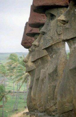 Moais, Isla de Pascua.