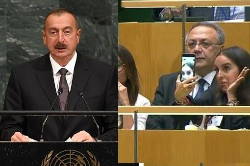 Leyla Aliyeva the daughter of Azerbaijan's president Ilham Aliyev has been criticised on social media after she was filmed taking ridiculous seflies while her father spoke at the United Nations General Assembly.  While President Ilham was delivering a crucial speech to world leaders in New York about the bloody Nagorno-Karabakh War of 1992 his 33-year-old daughter who was sat in the audience seemed less concerned by pulling an awkward gesture.  As her father continued to talk about the…