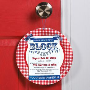 Neighborhood Block Party Invitation Idea   This DIY invitation is a fun way to invite everyone to your block party. #party