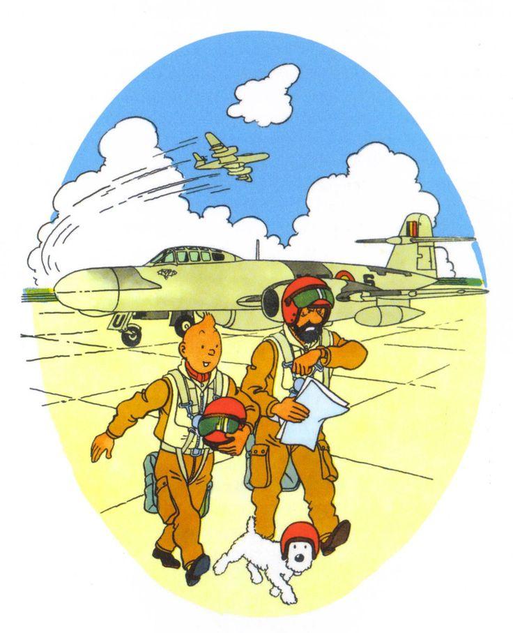 Dessin pour les forces aériennes belges - Hergé // Snowy's helmet! <3