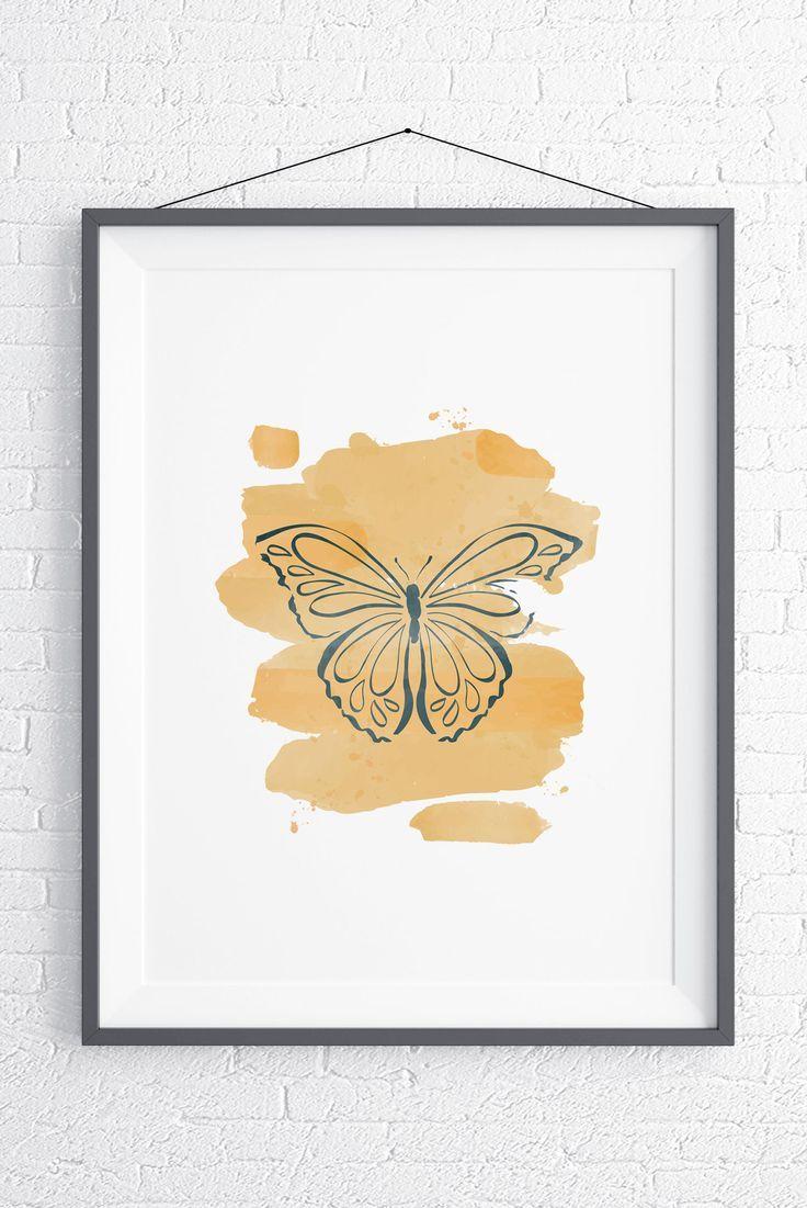 Butterfly Minimalist Wall Art, Home Decor, Printable Wall Art ...