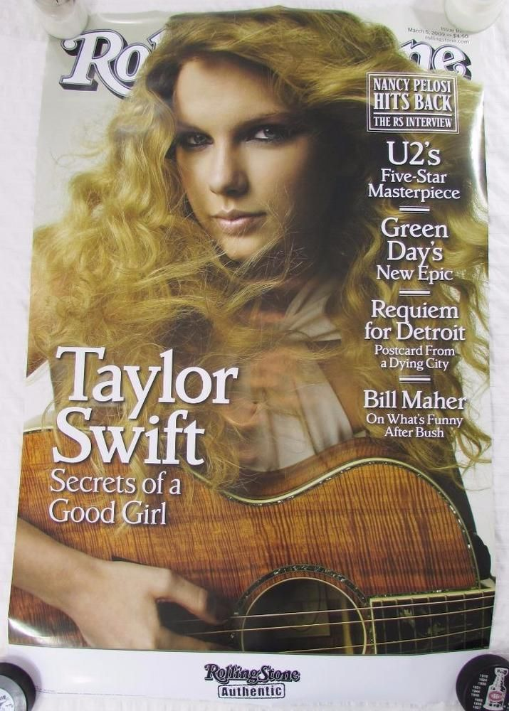 Rolling Stones Taylor Swift Poster Magazine Cover  March 2009 3' X 2' Glossy