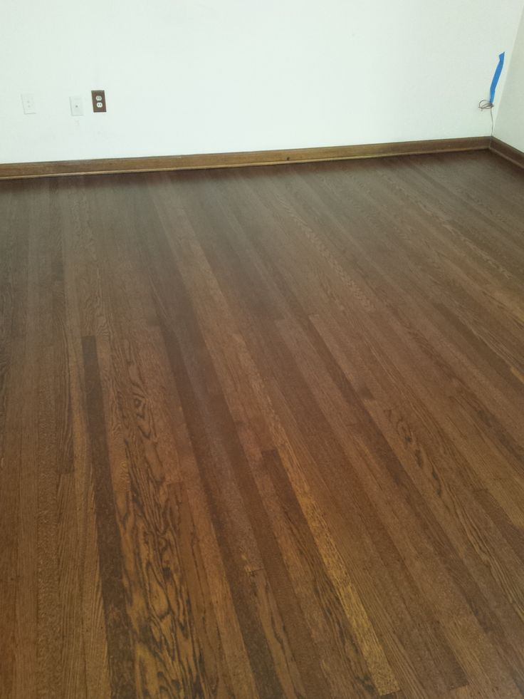 Top nail/face nailed Red oak wood floor, refinished with