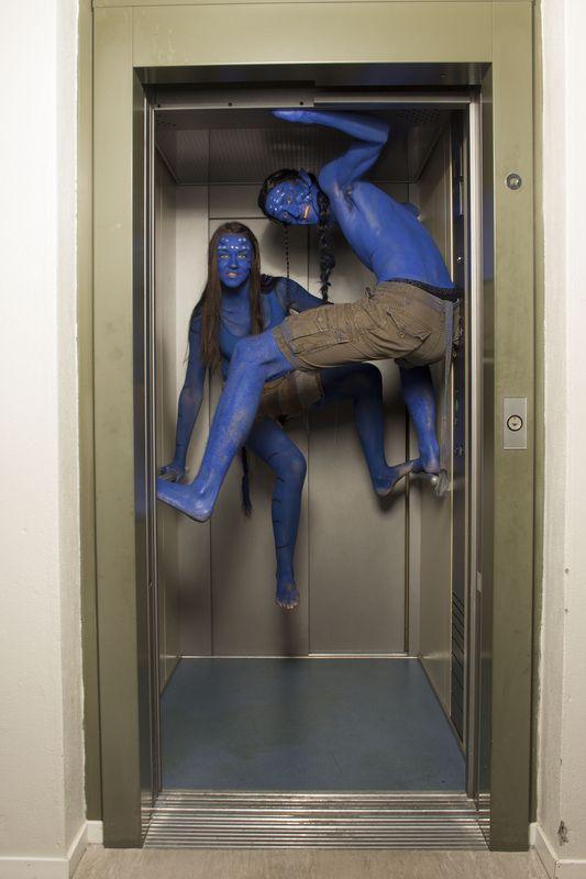 Nordhordland Folkehøgskole. Avatar i heisa...