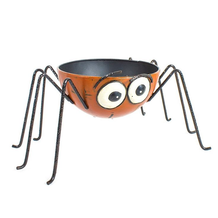 metal orange spider leg bowl spider legshalloween decorationshalloween - Metal Halloween Decorations