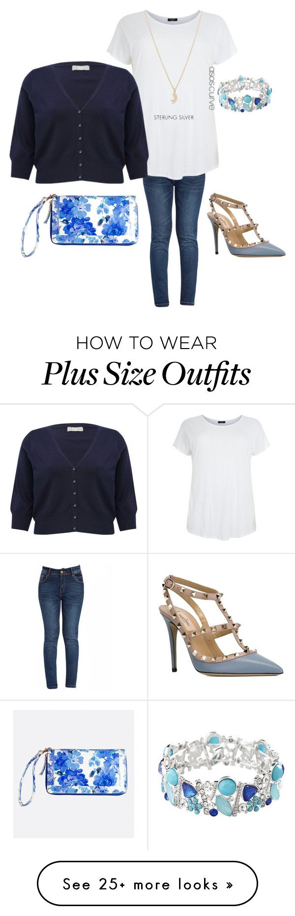 """""""Casual Work Day"""" by abloomi on Polyvore featuring Avenue, Valentino, M&Co, ASOS Curve, women's clothing, women, female, woman, misses and juniors"""